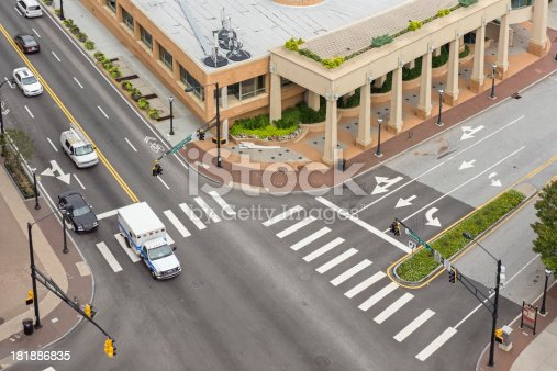 istock Traffic Below with ambulance 181886835
