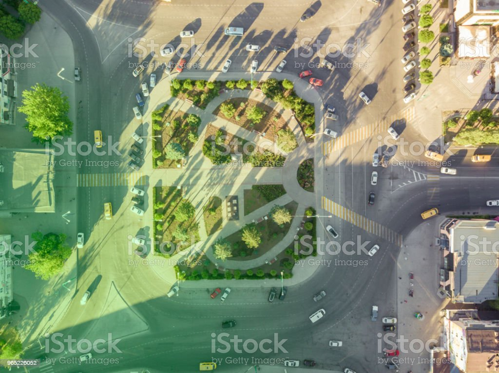 traffic circle motion in the city on the sunny day royalty-free stock photo