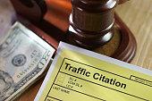 shot of traffic citation