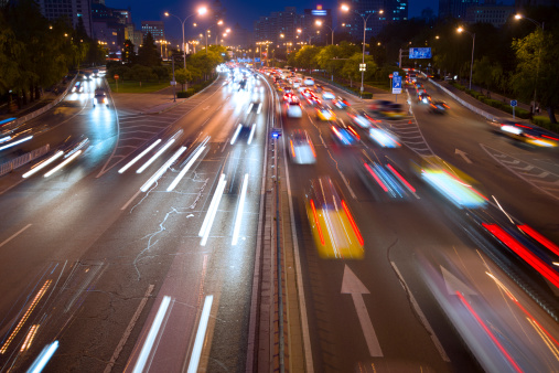 175130389 istock photo traffic city in night 181082145