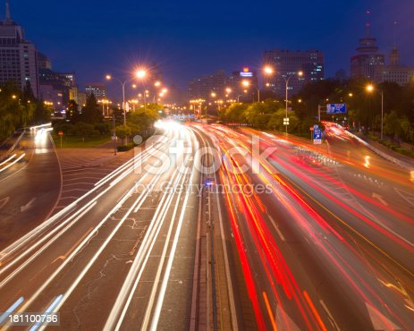 istock traffic city in night. 181100756
