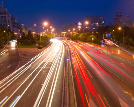 175130389 istock photo traffic city in night. 181100756