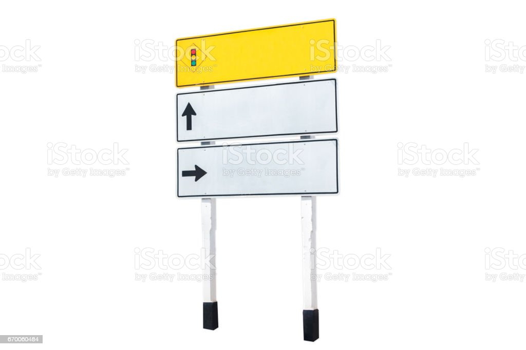 Traffic communication sign stock photo