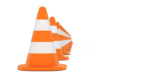 traffic cone 3d illustration – Foto