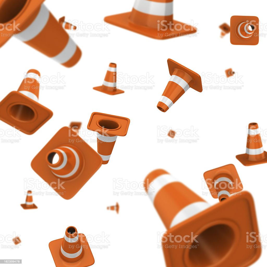 Traffic Cone Explosion royalty-free stock photo