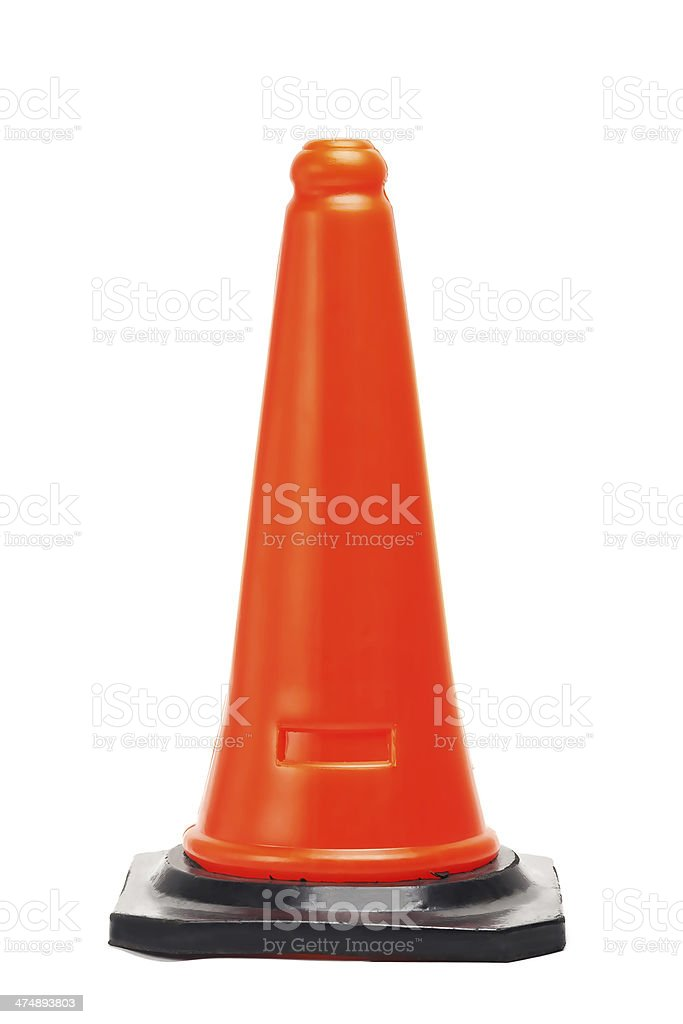 Traffic cone isolated stock photo