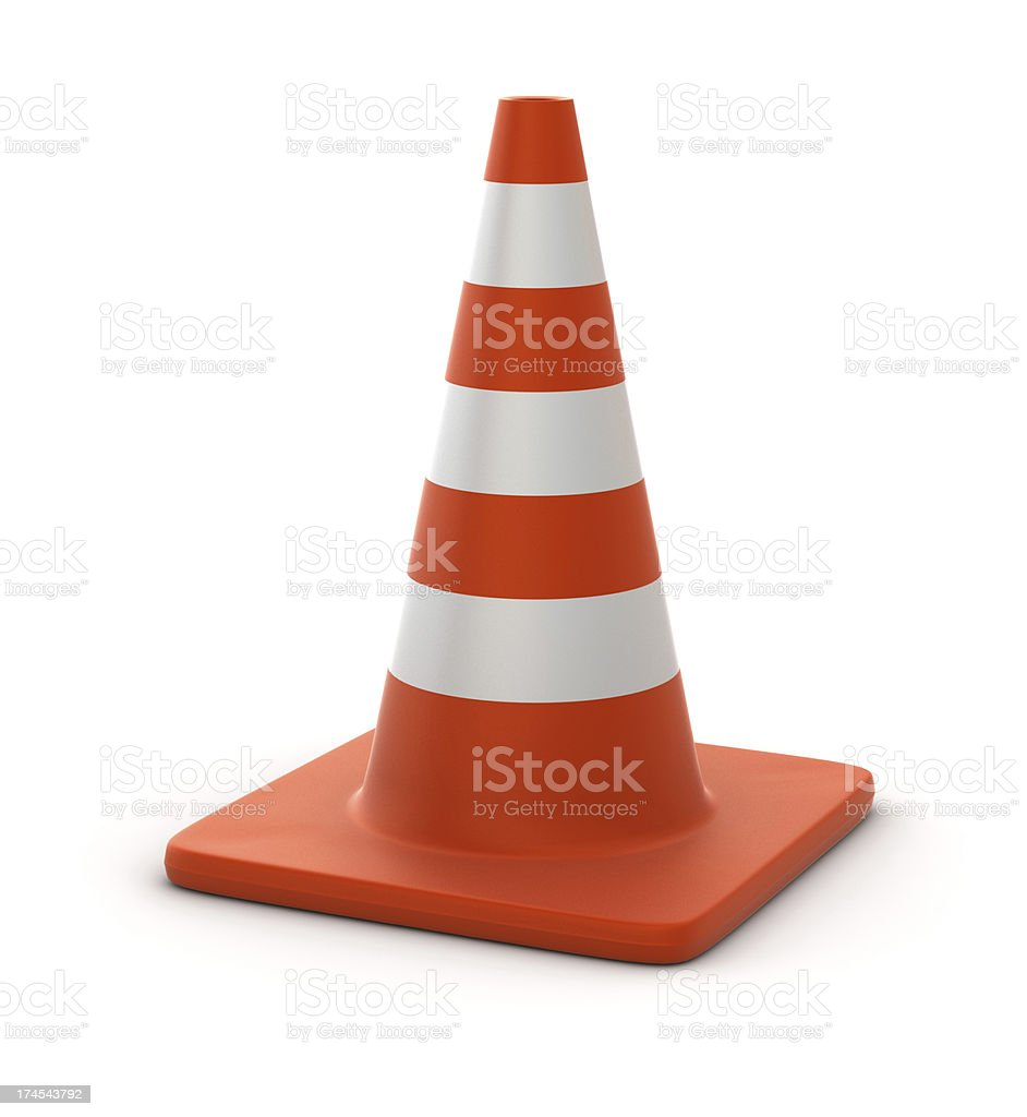 Traffic Cone royalty-free stock photo