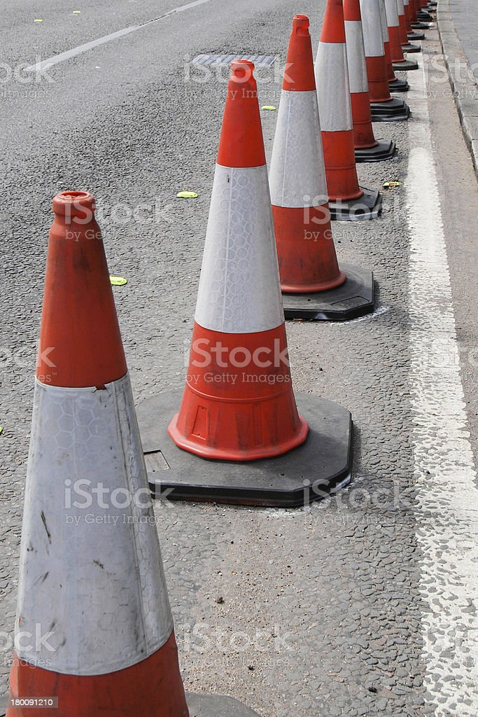 Traffic cone royalty-free stock photo