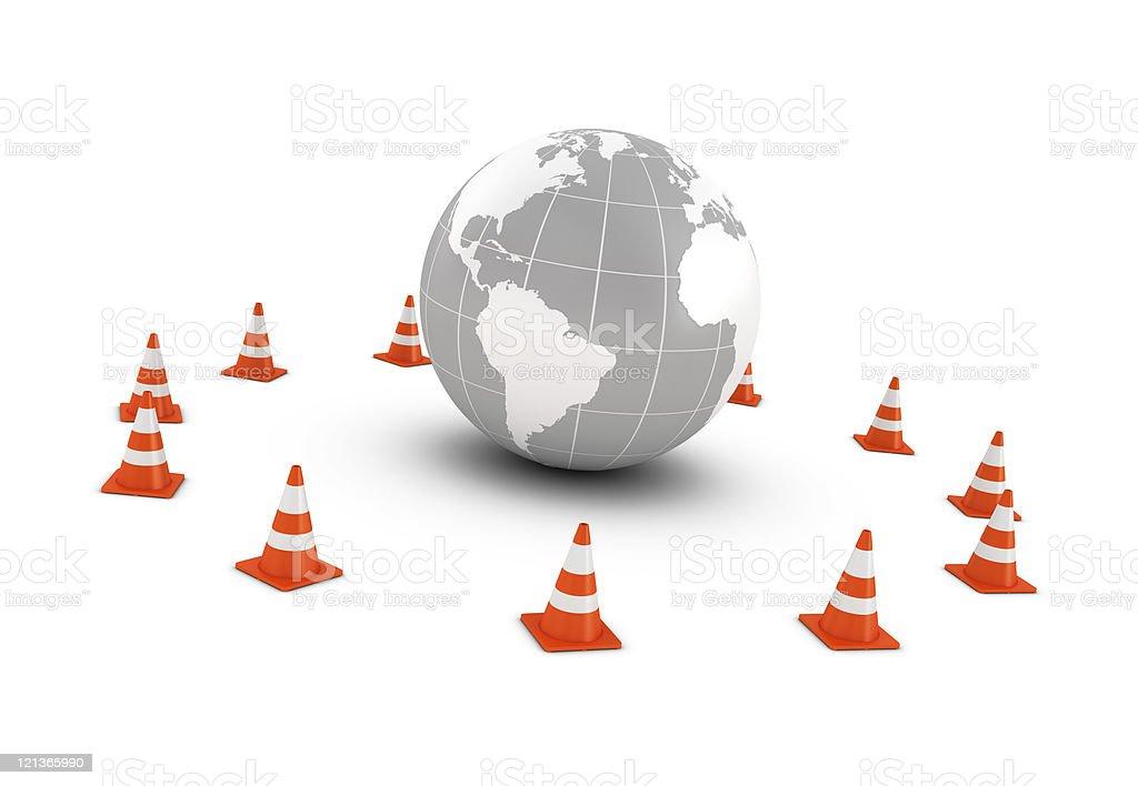 Traffic Cones Around the World royalty-free stock photo
