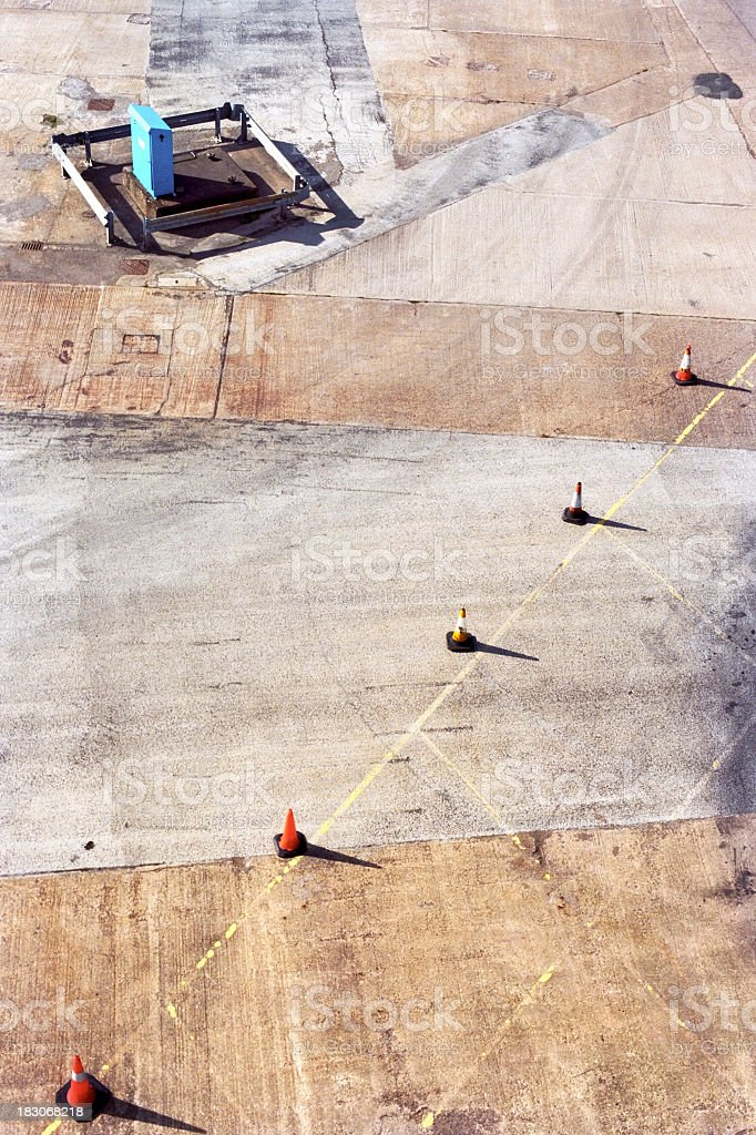 Traffic cones geometry stock photo