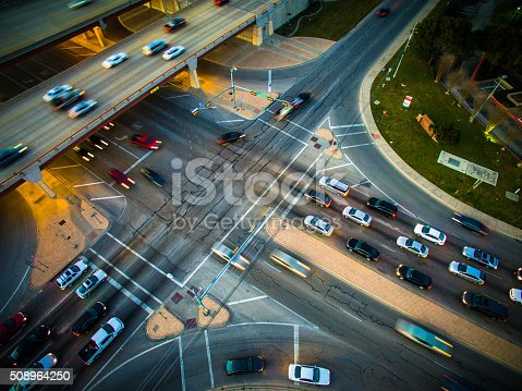 istock Traffic Congestion Motion Driving Aerial Intersection Highway 508964250