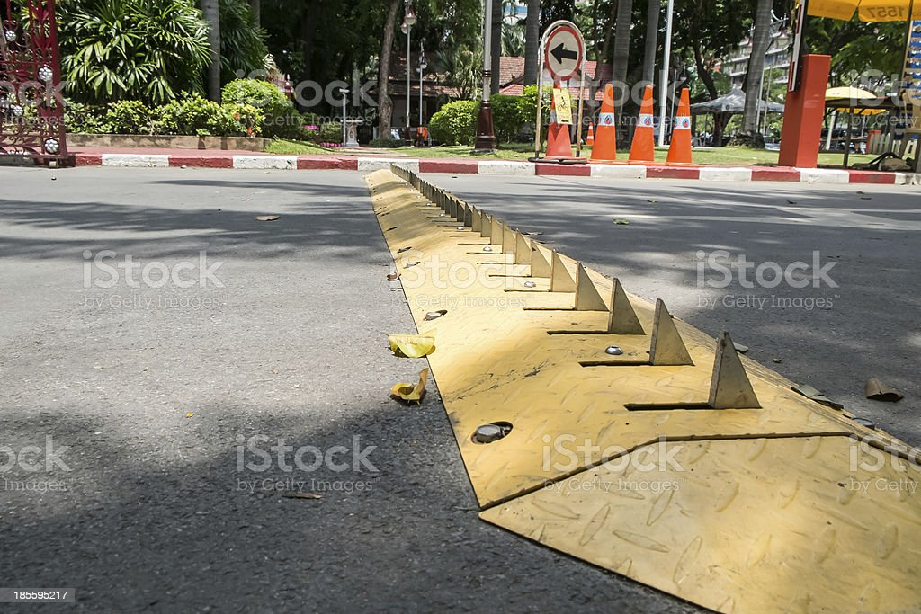 Traffic control barrier stock photo