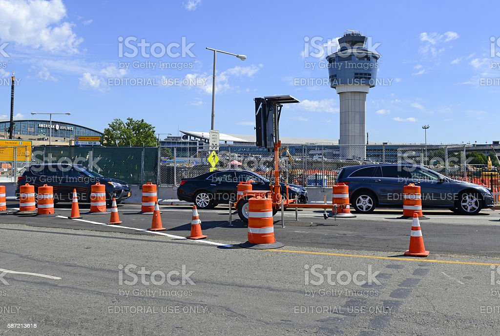 Traffic Delays And Construction At Laguardia Airport In New