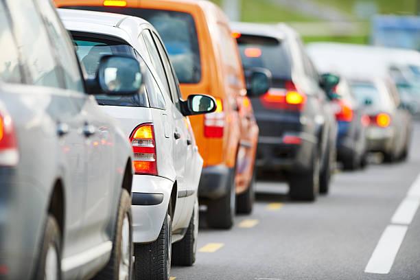 Verkehr während der rush hour – Foto