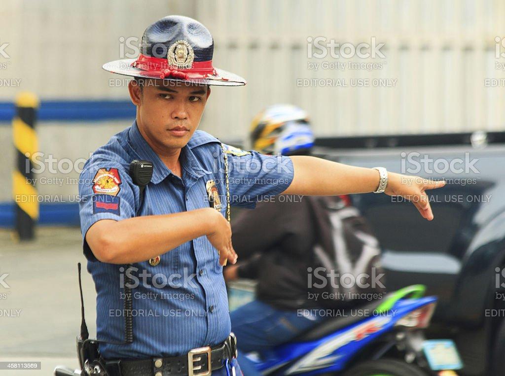 Traffic enforcer royalty-free stock photo