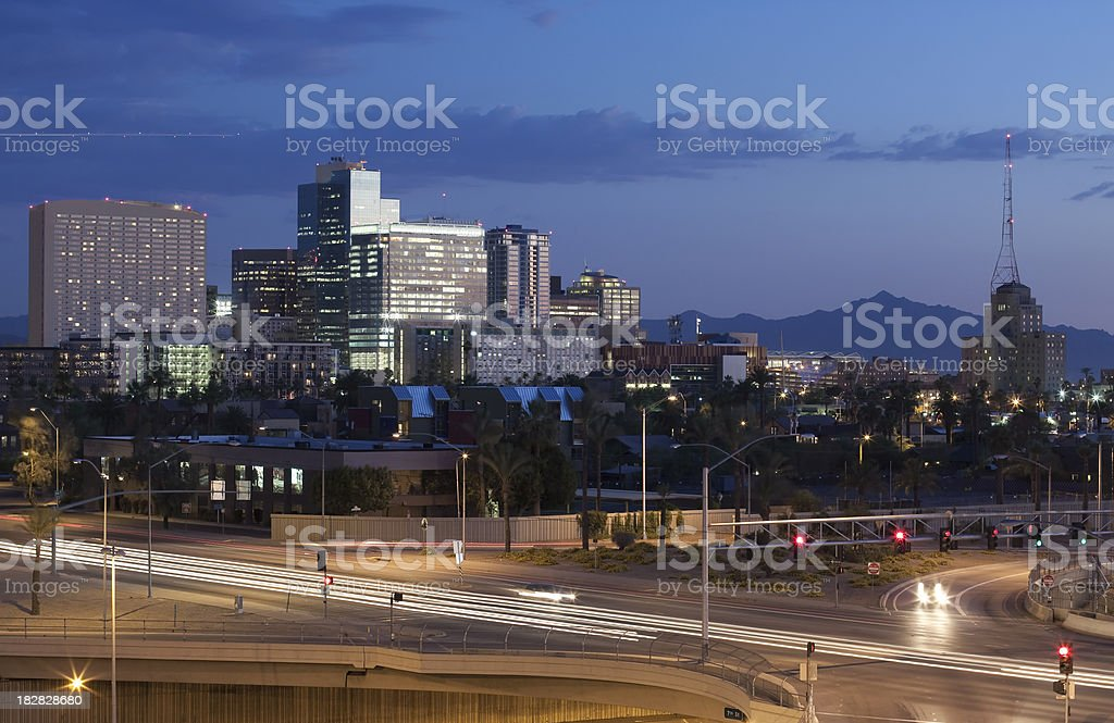 Traffic Flow of Downtown Phoenix royalty-free stock photo