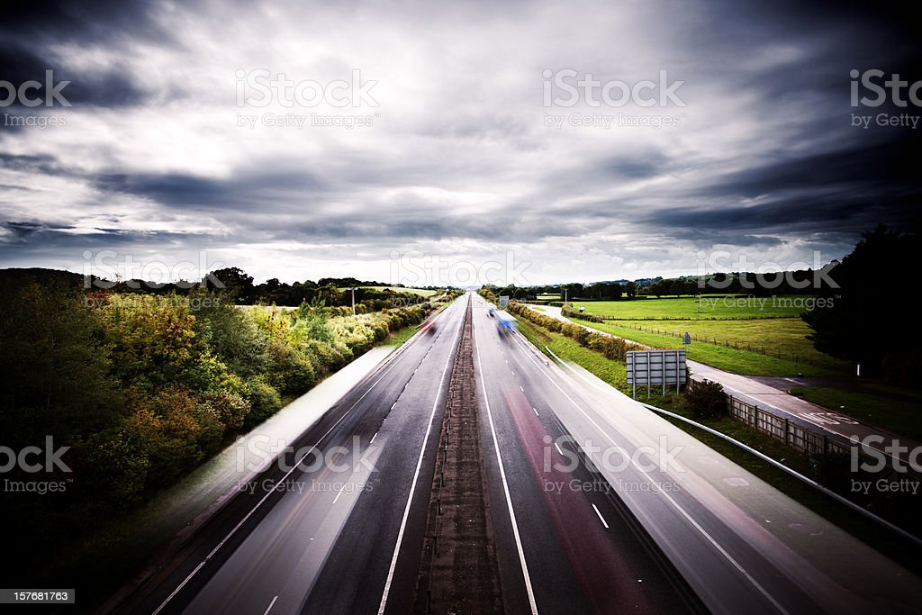Traffic flow stock photo