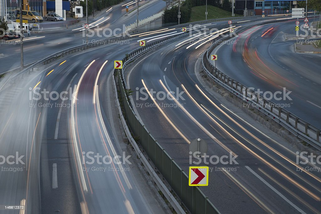 Traffic Flowing royalty-free stock photo