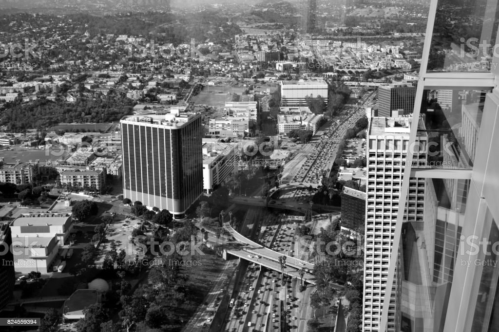 L.A. Traffic From Up Above stock photo