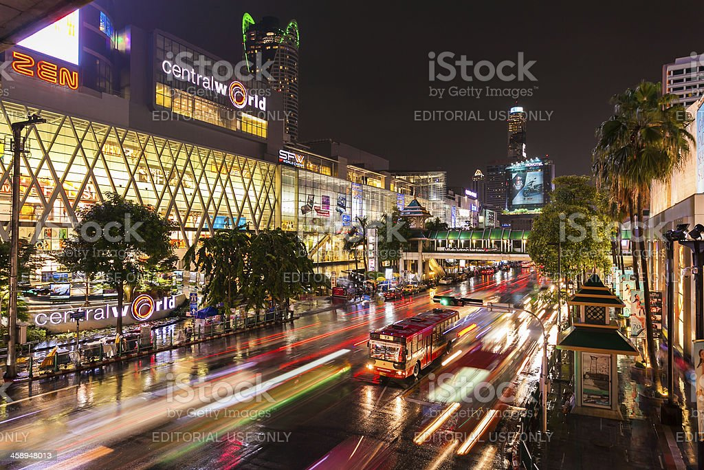 Traffic in Bangkok royalty-free stock photo