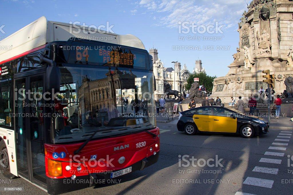 Traffic in Barcelona, Spain stock photo