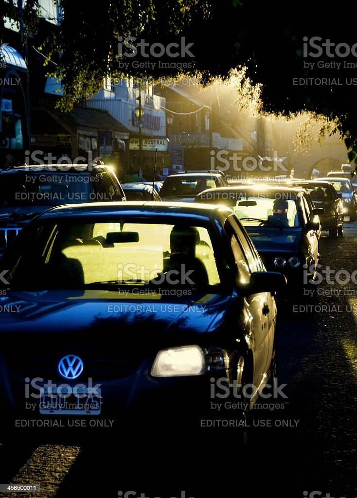 Traffic in Bariloche, Argentina royalty-free stock photo