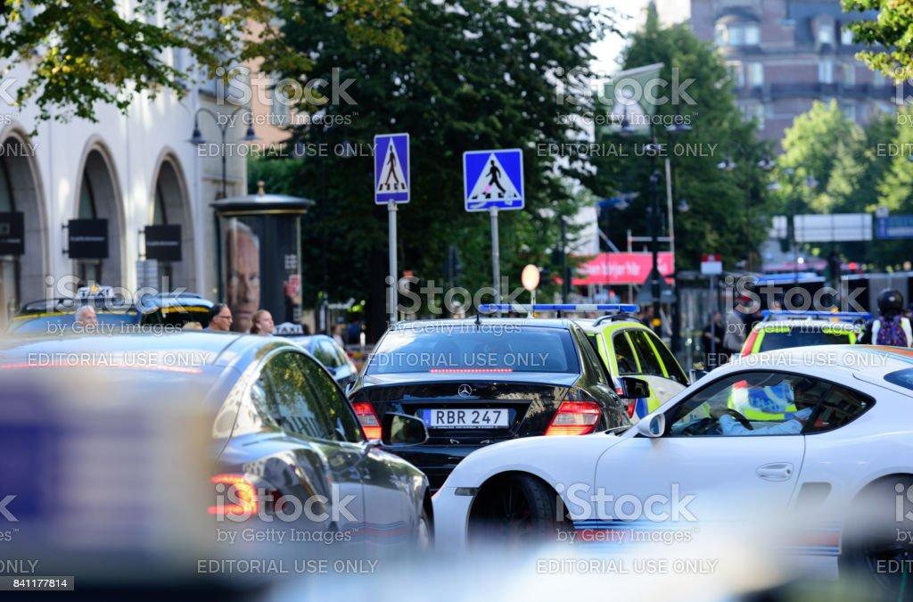 Verkehr im Zentrum von stockholm – Foto