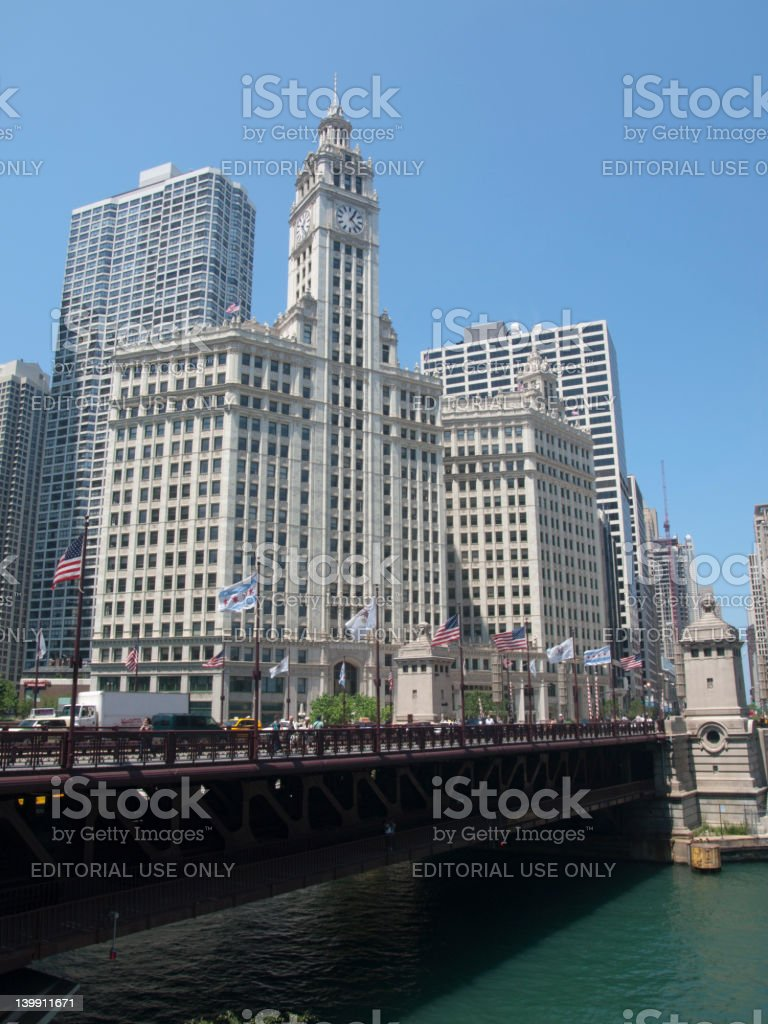 Traffic in Downtown Chicago royalty-free stock photo