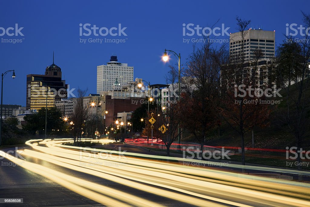 Traffic in downtown Memphis royalty-free stock photo