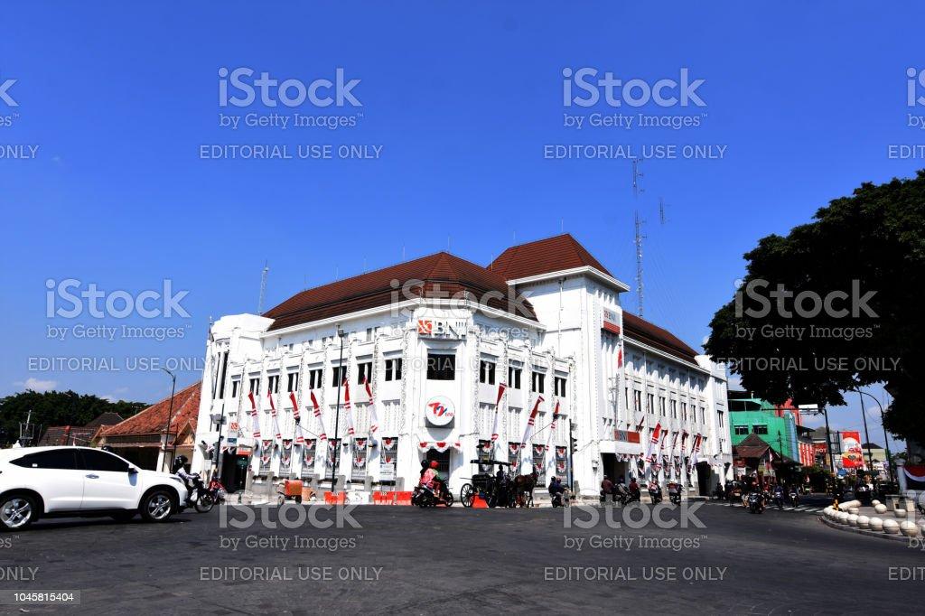 ジョグ ジャカルタ市の建物古い...