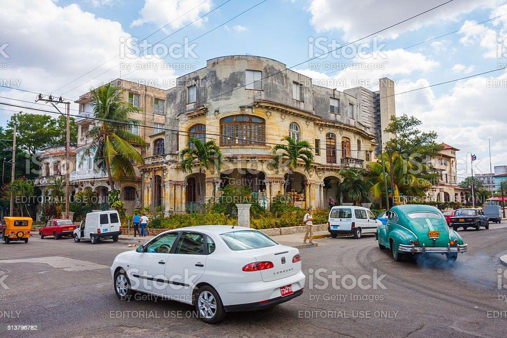 Traffic in Havana stock photo