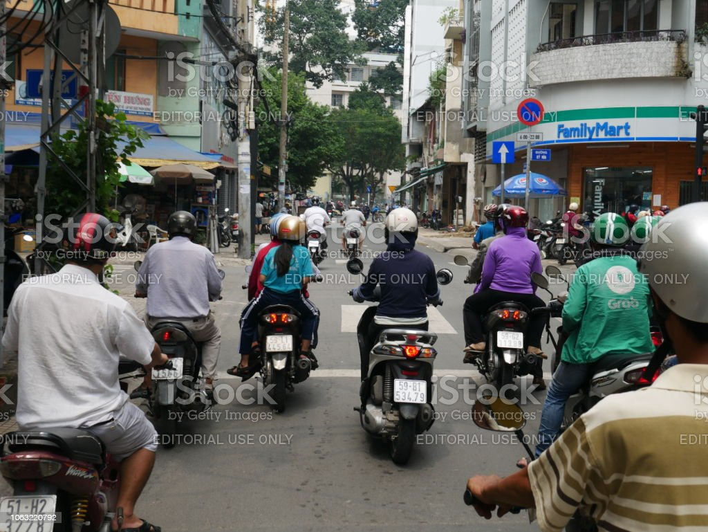Traffic In Ho Chi Minh Vietnam Stock Photo - Download Image