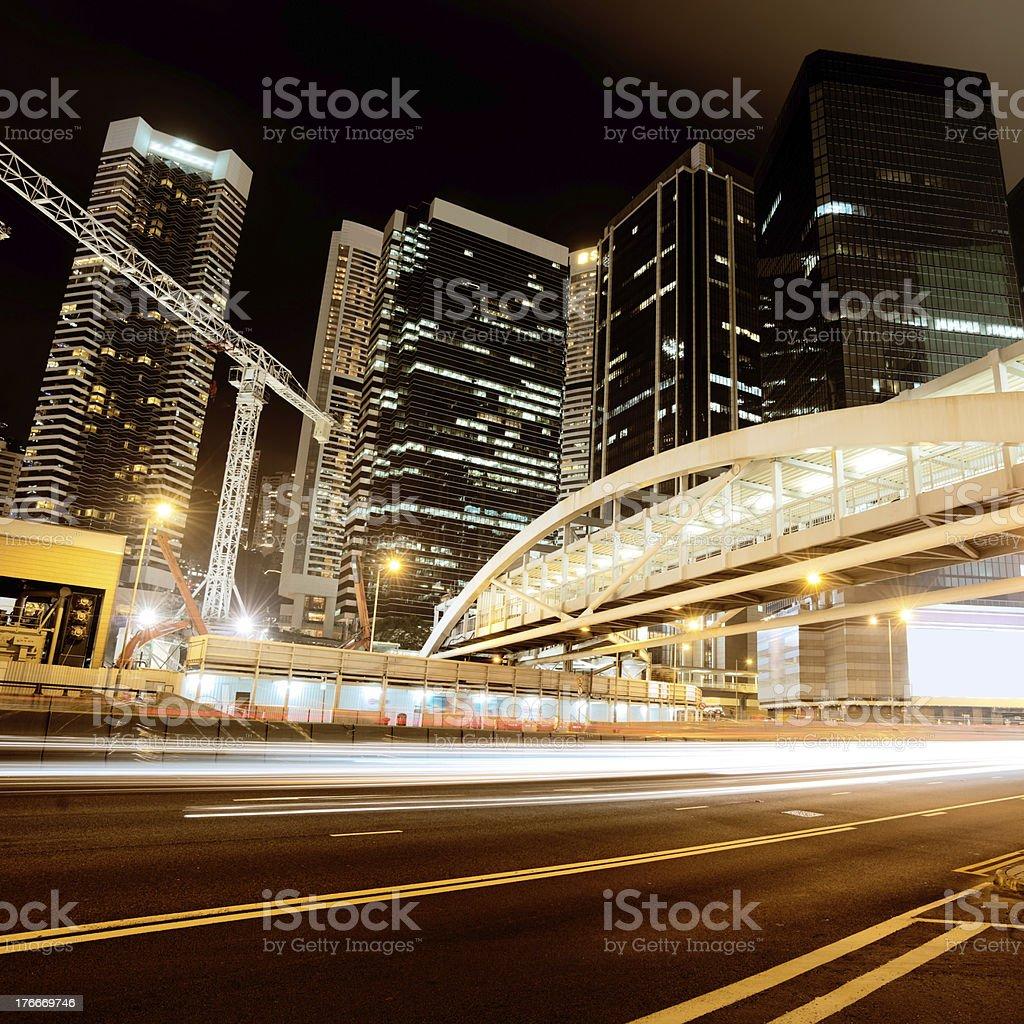 Tráfico en Hong Kong foto de stock libre de derechos