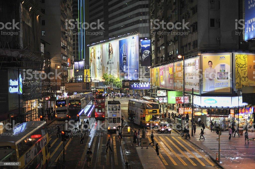 Traffic in Hong Kong stock photo