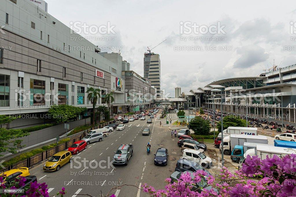 Traffic in Johor stock photo