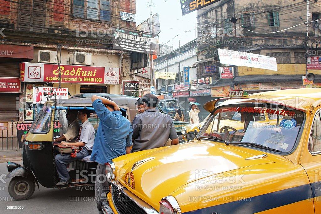 Traffic in Kolkata royalty-free stock photo