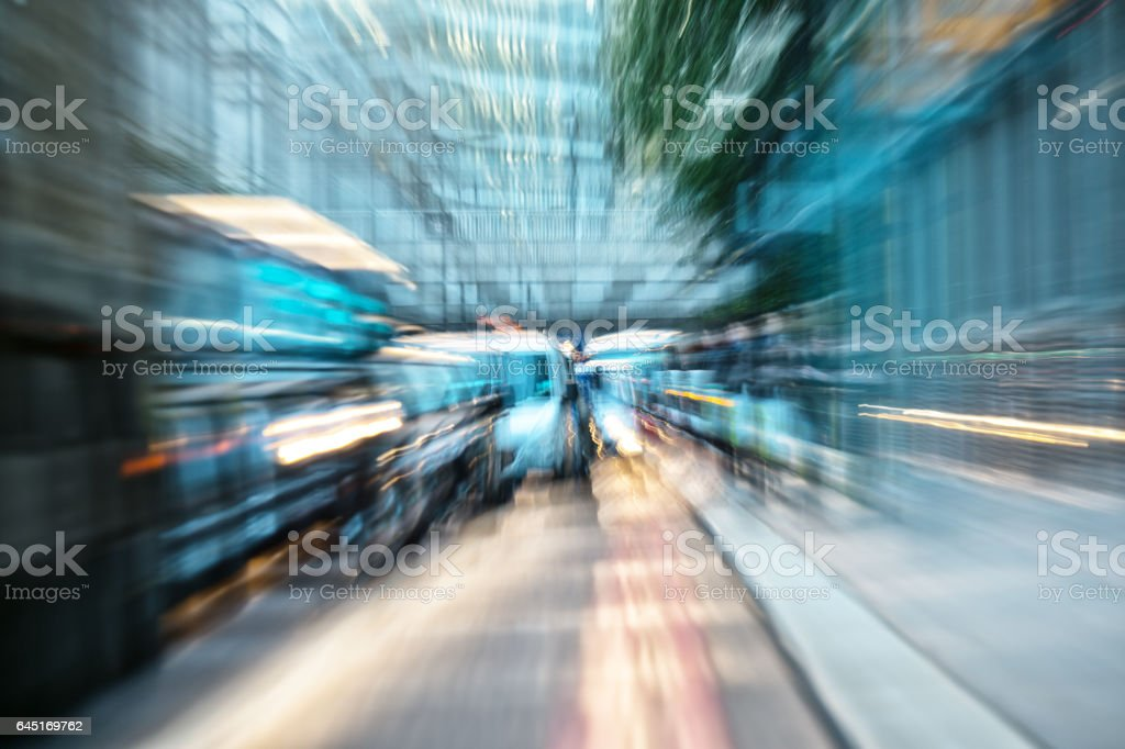 Traffic in London, car queue, stressful stock photo