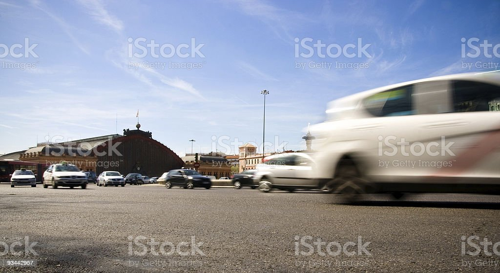 Traffic in Madrid royalty-free stock photo