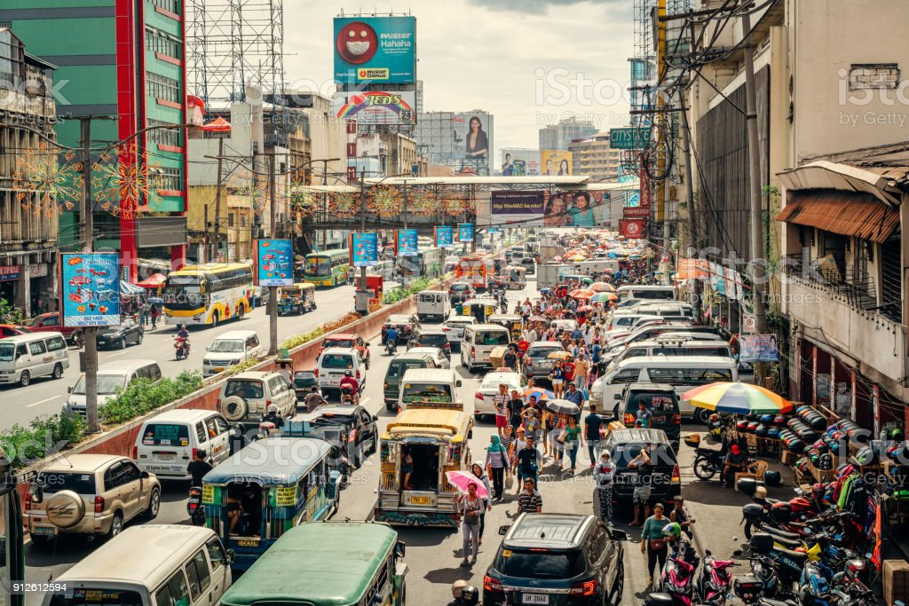 Traffic in Manila, Philippines stock photo
