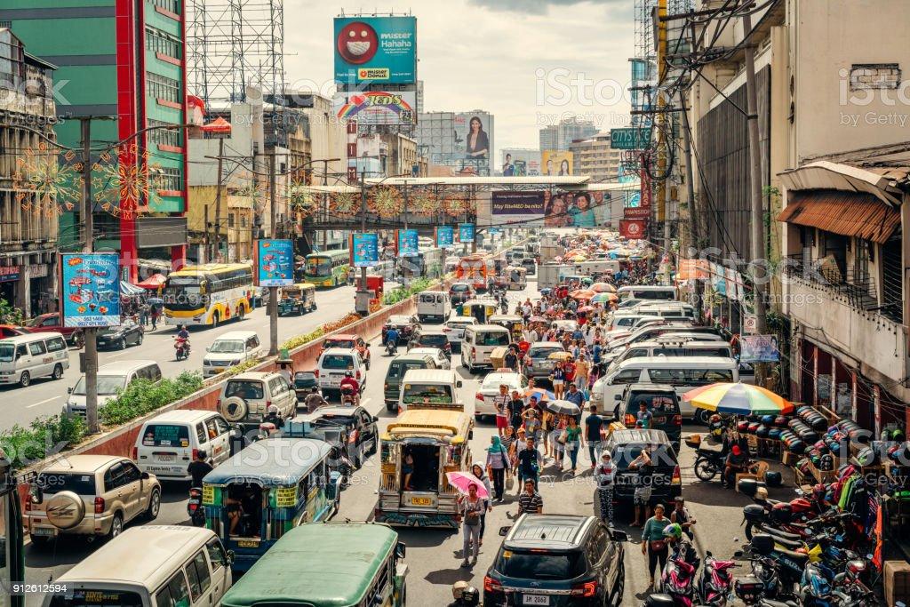 Verkehr in Manila, Philippinen – Foto