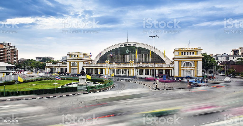 Traffic in modern city, Bangkok central train station, Thailand. royalty-free stock photo