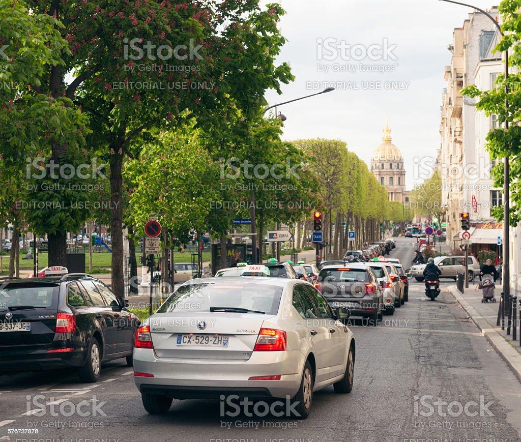 Traffic in Montparnasse, Paris stock photo