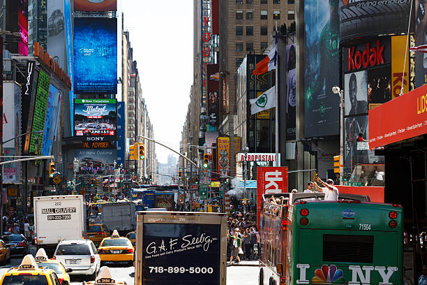 Traffic in New York City. stock photo
