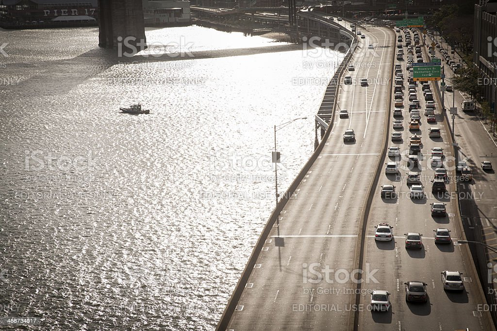 Traffic in New York City royalty-free stock photo