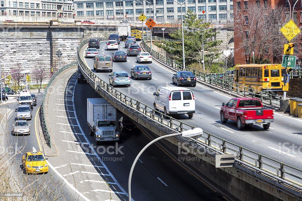 Traffic in New York City stock photo