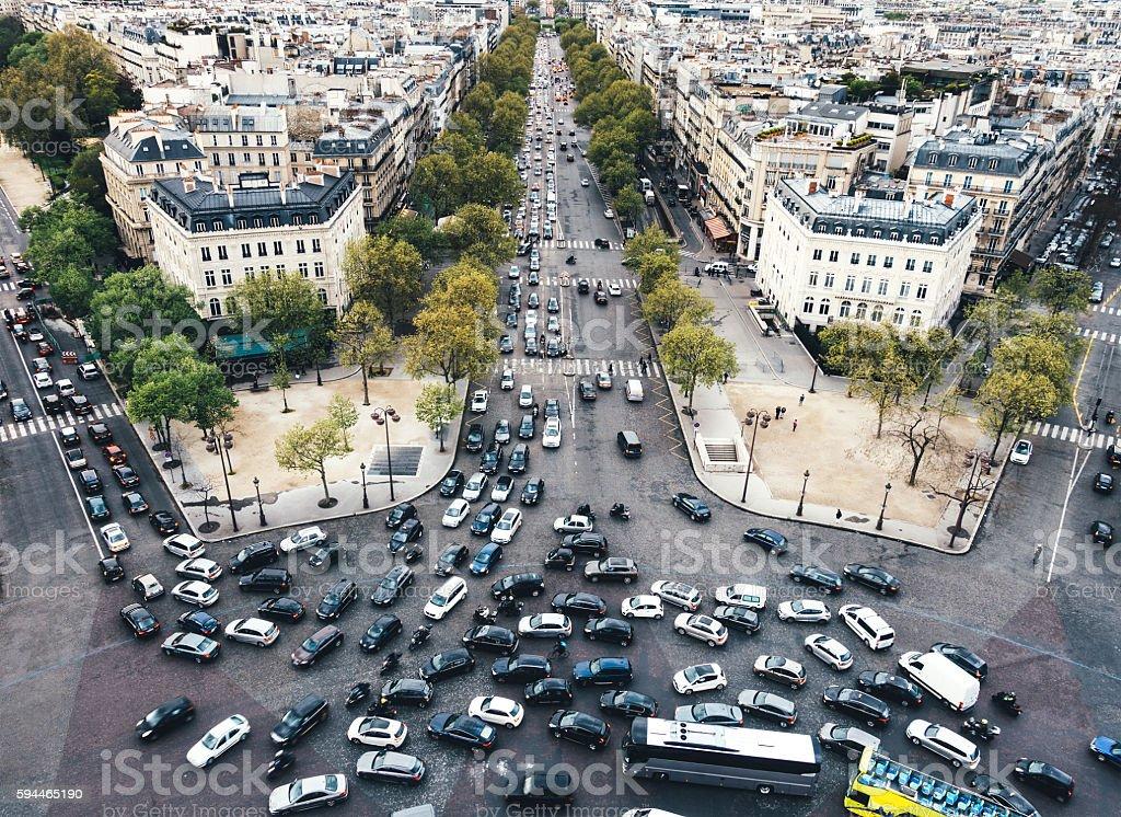 Traffic In Paris stock photo