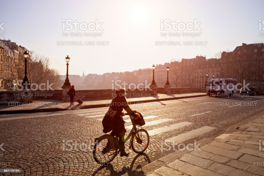 Traffic in Paris royalty-free stock photo