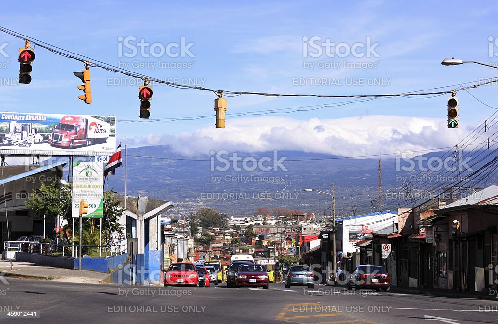 Traffic in San Jose Costa Rica stock photo
