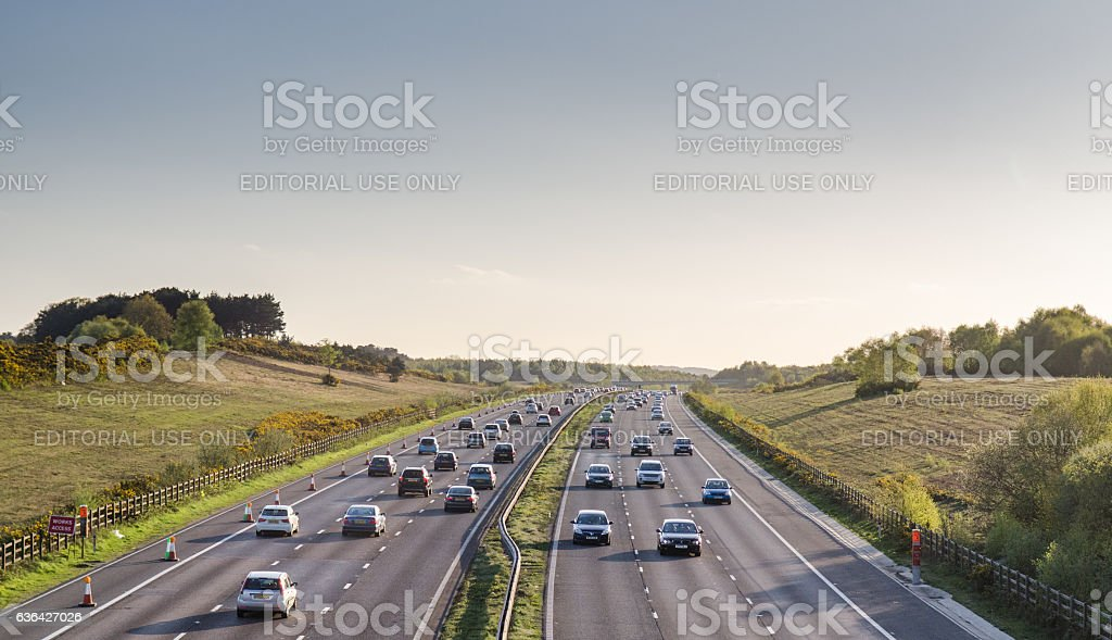 A3 traffic in Surrey stock photo