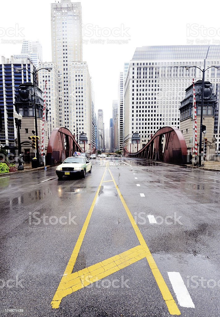 Traffic in the City, Chicago. royalty-free stock photo